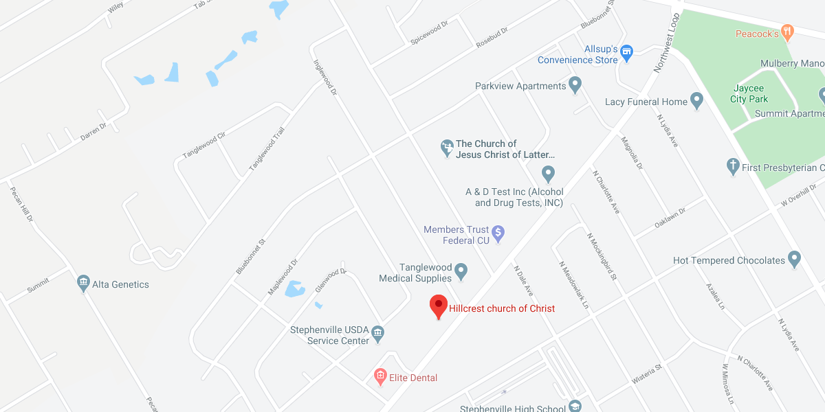 Hillcrest Church of Christ - map