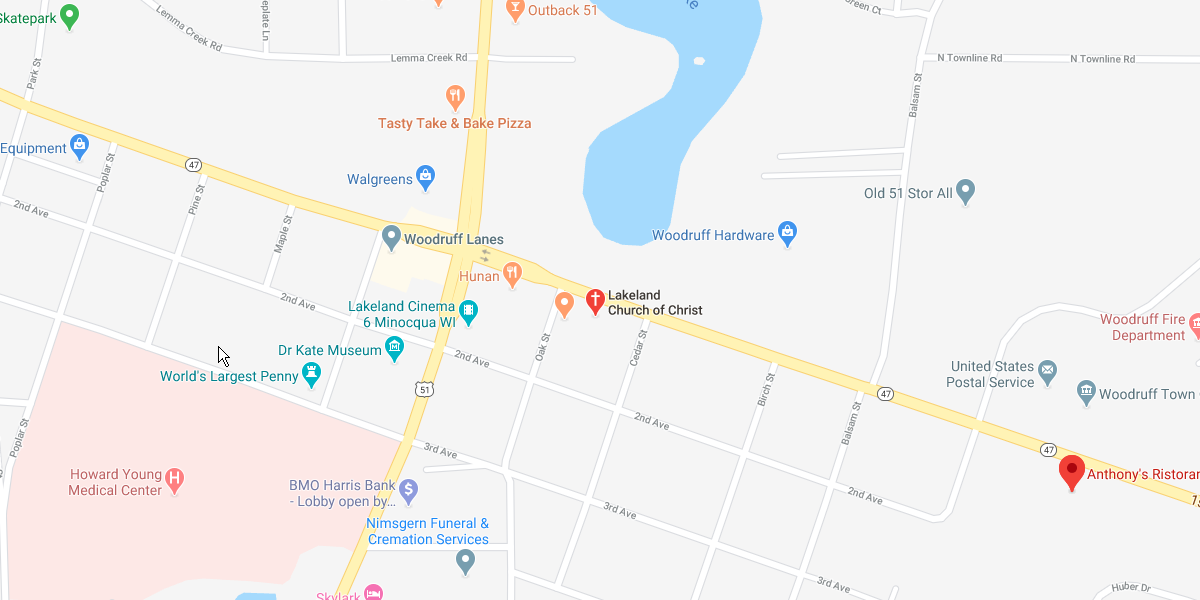 Lakeland Church of Christ - map