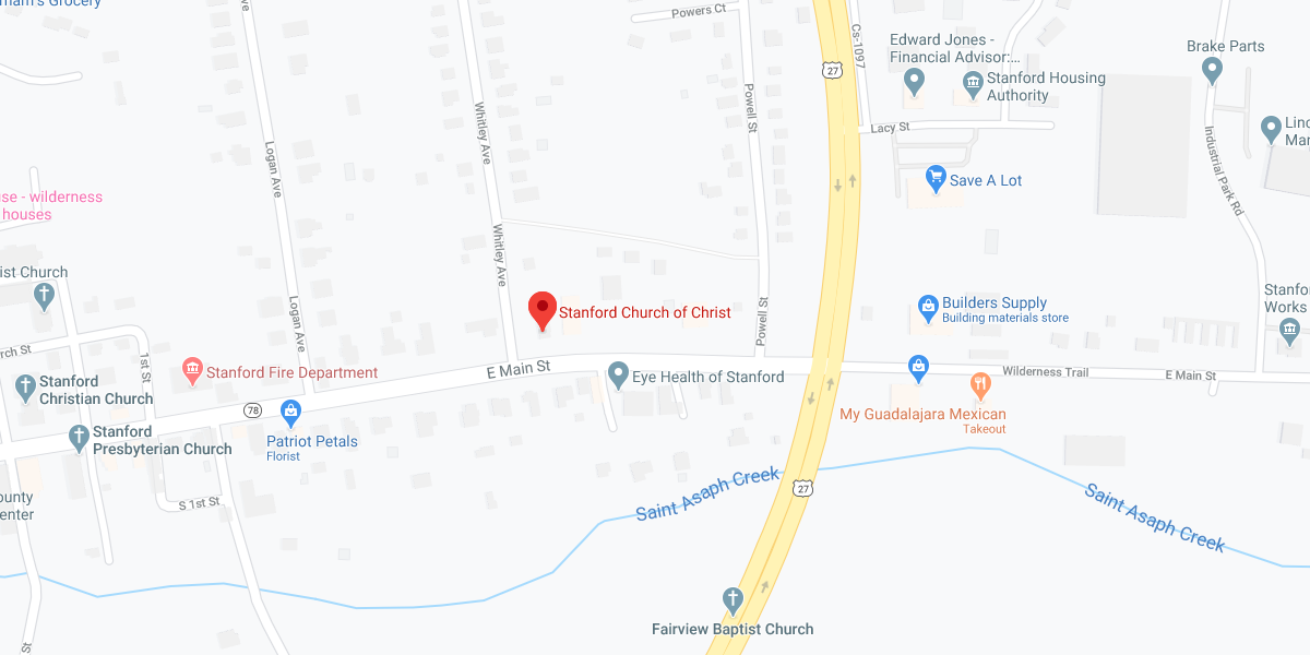Stanford Church of Christ - map